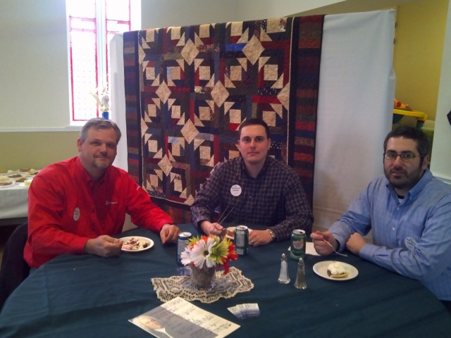 Our friends from Scotiabank enjoying their after lunch pie.