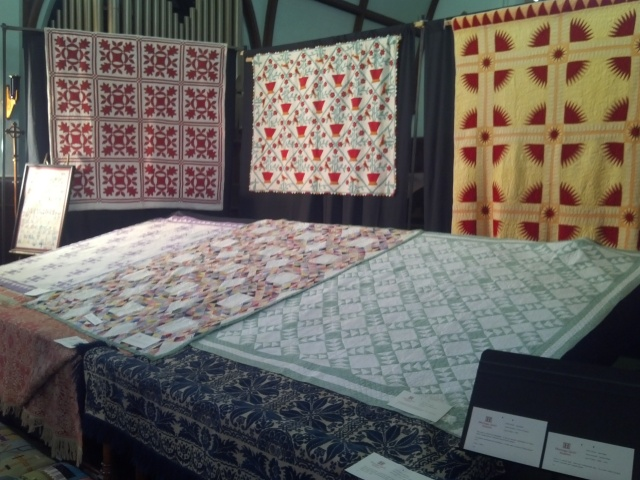 Here is just a small sample of our quilt display.